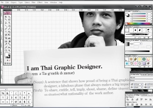 i am a Thai graphic designer
